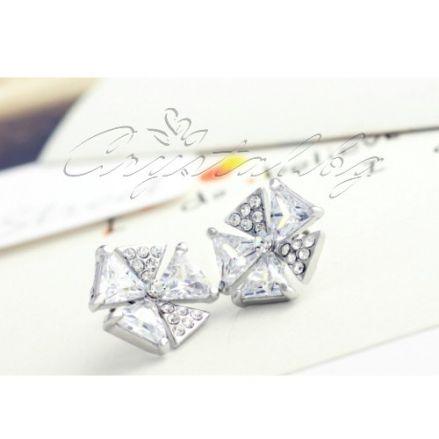 Обеци Snowflakes