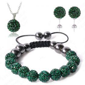 Комплект тип Шамбала 3 части тъмно зелен