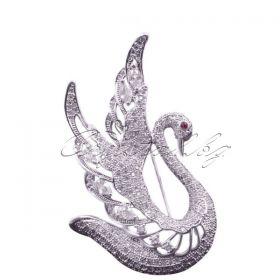 Брошка Swan