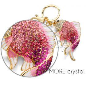 Кристален ключодържател лебед