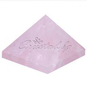 Кристална пирамида  с рейки символи- розов кварц, авантюрин, кварц, аметист или лапис лазули