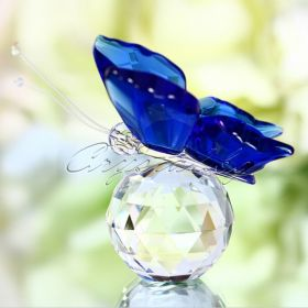 Кристална фигура Blue Butterfly