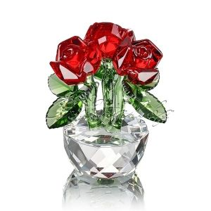 Кристална фигура Red Roses